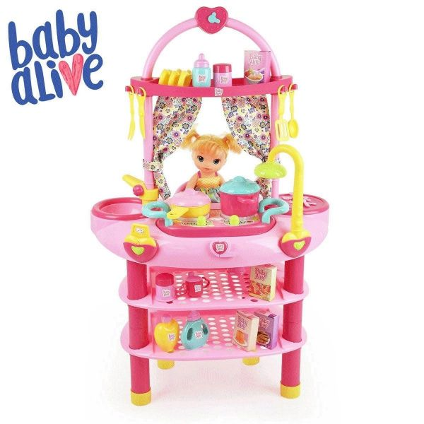 Baby Alive Cook 'N' Care 3-in-1 Set + 28 Accessories